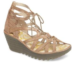 Fly London 'Yuke' Platform Wedge Sandal
