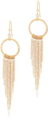 Italian Gold Fringe Earrings, 14K Gold