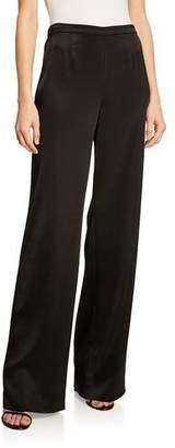 St. John Kate Satin Wide-Leg Pants
