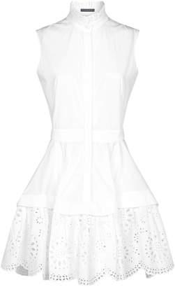 Alexander McQueen Poplin Broderie Anglaise Mini Dress
