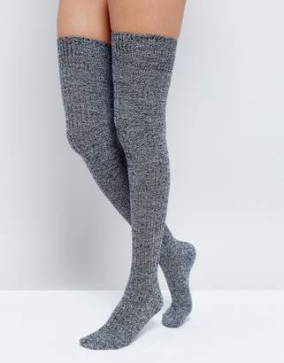 Asos DESIGN mixed knit over the knee socks