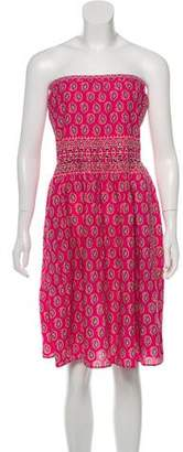 Calypso Strapless Printed Mini Dress