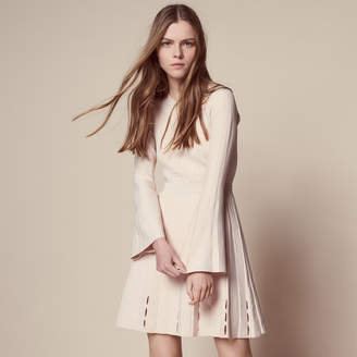 Sandro Knit dress with trumpet sleeves