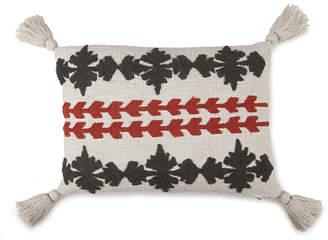 Casa Amarosa Rust & Grey Tufted Petal Lumbar Pillow