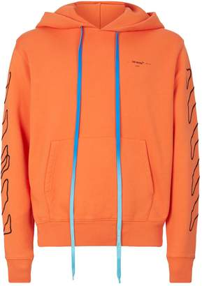 Off-White Off White Outline Logo Hoodie