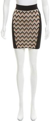Rag & Bone Pattern-Accented Mini Skirt