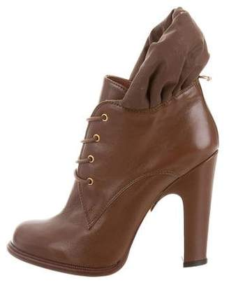 Guillaume Hinfray Leather Lace-Up Booties