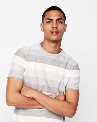 Express Mini Stripe Short Sleeve Crew Neck Tee