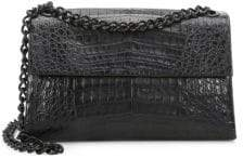 Nancy Gonzalez Crocodile Double Chain Shoulder Bag