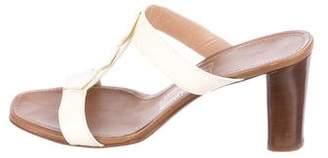 Salvatore Ferragamo Leather Slide Sandals