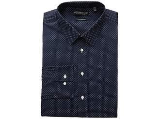 Nick Graham Pin Dot Stretch Dress Shirt Men's Long Sleeve Button Up
