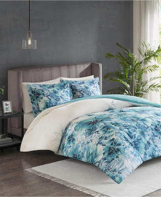 Madison Home USA Jla Home Enza Full/Queen 3 Piece Cotton Printed Duvet Cover Set Bedding