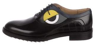 Fendi 2017 Monster Round-Toe Oxfords w/ Tags