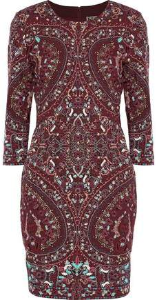 Embroidered Cady Mini Dress