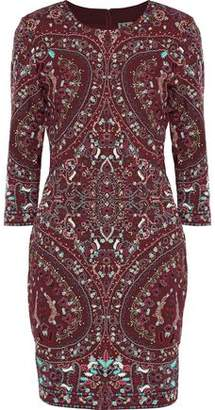 Haute Hippie Embroidered Cady Mini Dress