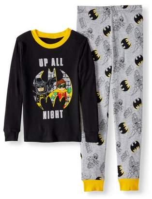 Lego Batman Glow in the Dark Fitted Batman 2 Piece Pajama Sleep Set (Big Boy & Little Boy)