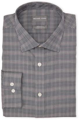 Michael Kors Check Houndstooth Regular Fit Dress Shirt