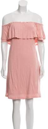 DREW Off-The-Shoulder Mini Dress w/ Tags Pink Off-The-Shoulder Mini Dress w/ Tags