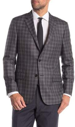 Hickey Freeman Plaid Classic Fit Wool & Cashmere Sportcoat