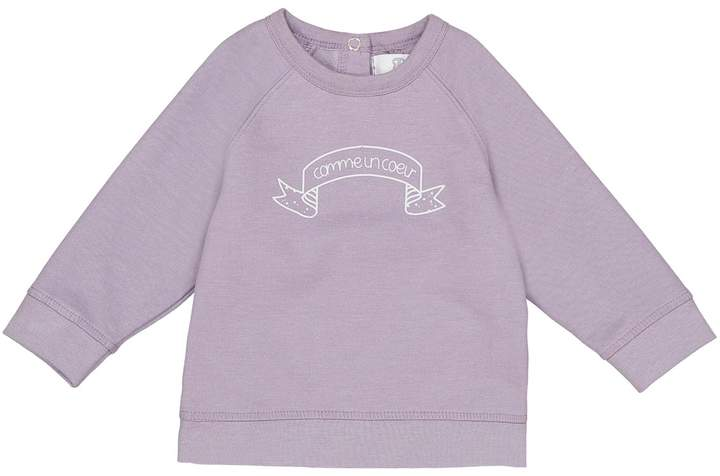 La Redoute Collections Slogan Sweatshirt, Birth-2 Years