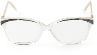 Saint Laurent Pre-Owned marble detailing glasses