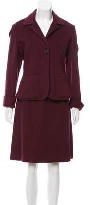 J. Mendel A-Line Knee-Length Skirt Suit