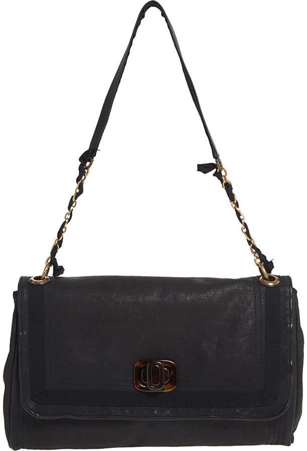 Lanvin PomPon PM Shoulder Turnlock Bag