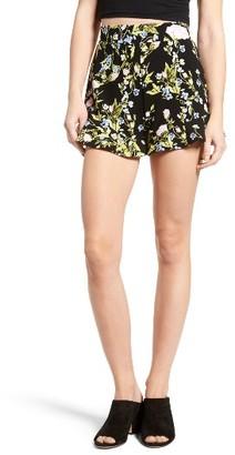 Women's Leith Floral Print Flounce Shorts $55 thestylecure.com