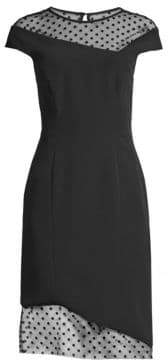 Milly Women's Lillian Mesh-Panel Sheath Dress - Black - Size 2