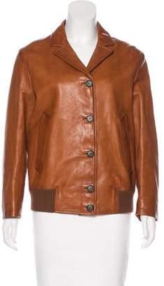 Prada Button-Up Leather Jacket