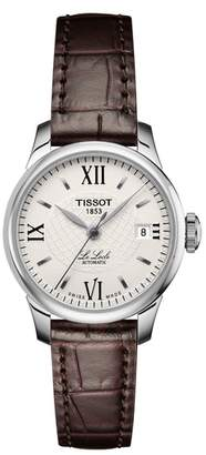 Tissot Le Locle Automatic Lady Leather Strap Watch, 25mm