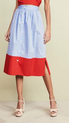 MDS Stripes Side Slit Skirt