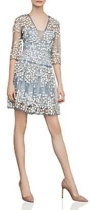 BCBGMAXAZRIA Vine Appliqué Dress