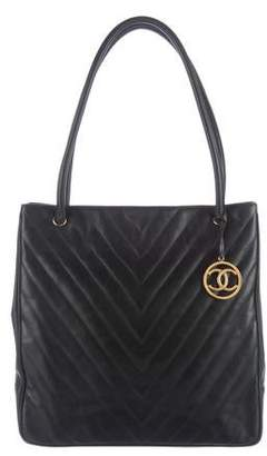 Chanel Quilted Chevron Tote