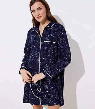 LOFT Star Pajama Dress