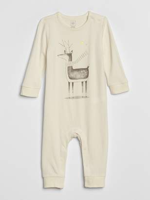 Gap Baby Organic Cotton Graphic One-Piece