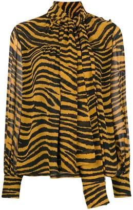 Proenza Schouler Tiger Print Tied Top