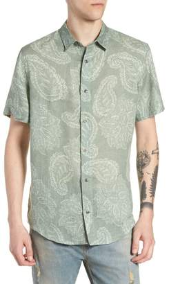 Treasure & Bond Paisley Linen Camp Shirt