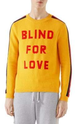 Gucci Blind For Love Wool Sweater