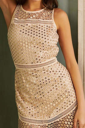 Saylor Aurie Gold Dress