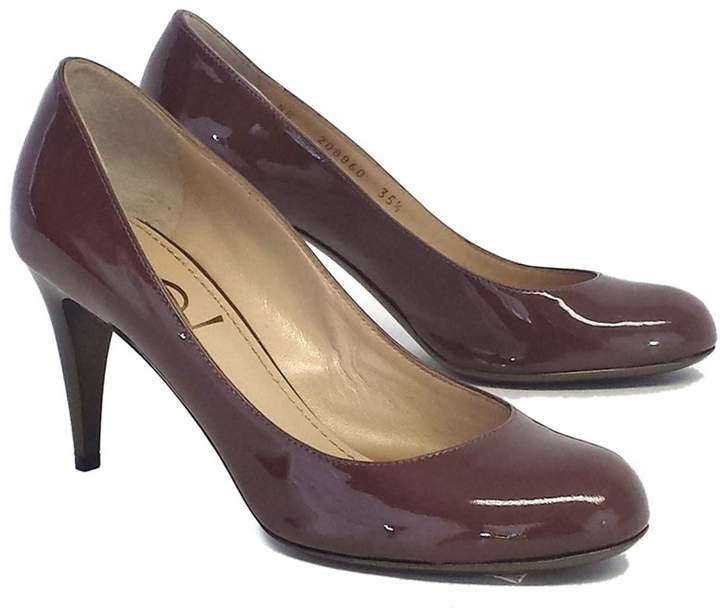 YSL Taupe Patent Leather Heels