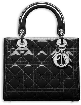 Christian Dior Top Handle My Lady Bag Cannage Black