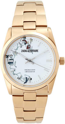 Zadig & Voltaire ZVF414 Gold-Tone Dancing Skeleton Watch