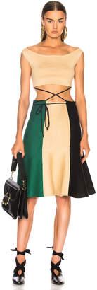 J.W.Anderson Rustic Tricolor Dress