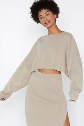Nasty Gal Don't Let the Side Down Cropped Sweater