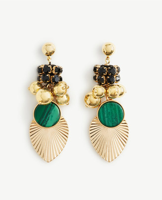 Pleated Charm Statement Earrings $49.50 thestylecure.com