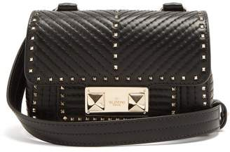 Valentino - Ziggystud Small Quilted Leather Shoulder Bag - Womens - Black