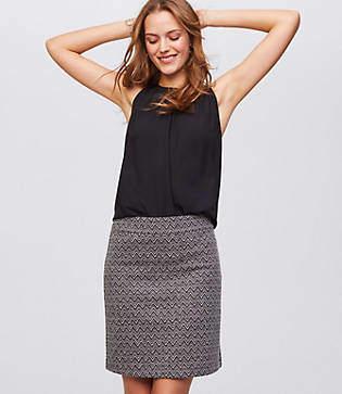 LOFT Tall Chevron Shift Skirt