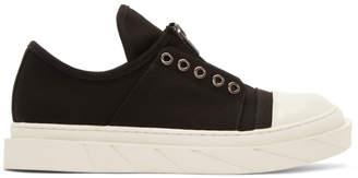 D by D Black Front Zip Slip-On Sneakers 9H3y0