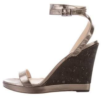 Jimmy Choo Metallic Platform Wedges